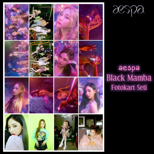 aespa Black Mamba Fotokart Seti