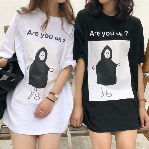 ARE YOU OK? T-SHIRT BEYAZ