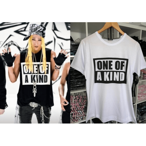 G-DRAGON ONE OF A KIND T-SHIRT BEYAZ