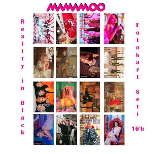 MAMAMOO Reality in Black Fotokart Seti