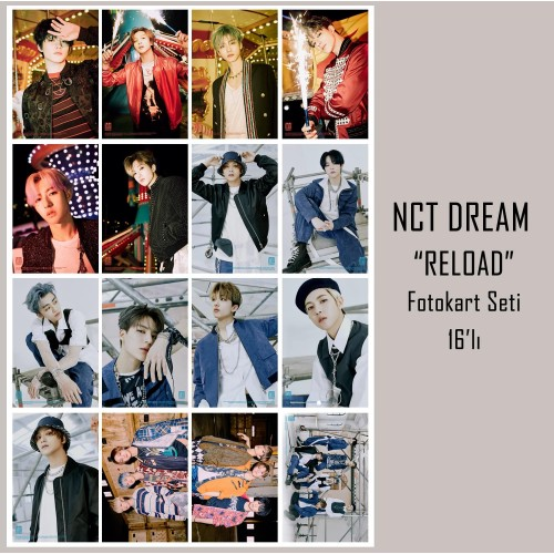 NCT DREAM RELOAD FOTOKART SETİ 16'LI