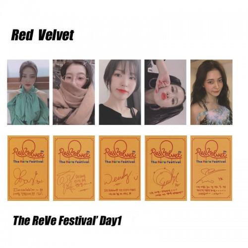 Red Velvet - RVF Day 1 İmzalı Fotokart