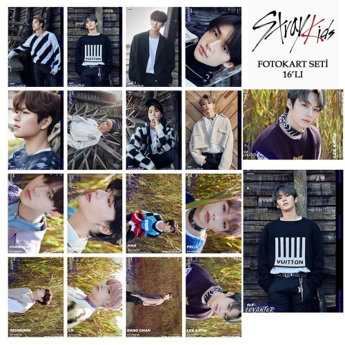STRAY KIDS LEVANTER FOTOKART SETİ 16'LI