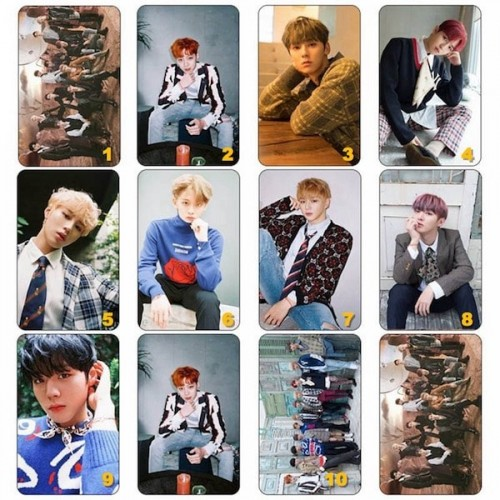 WANNA ONE ÜYELERİ STICKER FOTOKART