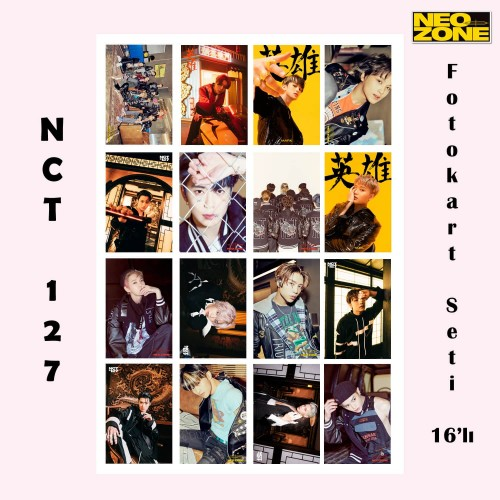 NCT 127 Neo Zone Fotokart Seti 16'lı