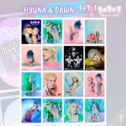HYUNA & DAWN FOTOKART SETİ