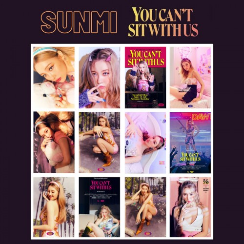 SUNMI YOU CAN'T SIT WITH US FOTOKART SETİ