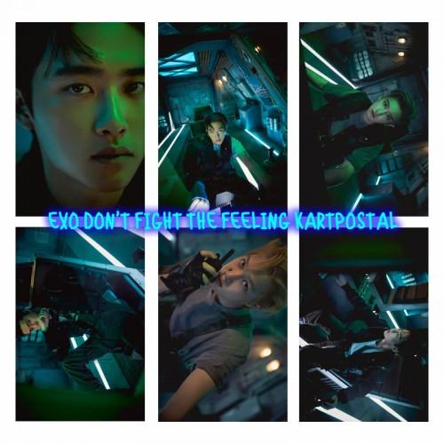 EXO DON'T FIGHT THE FEELING KARTPOSTAL